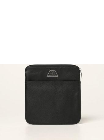 Armani Collezioni Armani Exchange Shoulder Bag Armani Exchange Bag In Saffiano Synthetic Leather