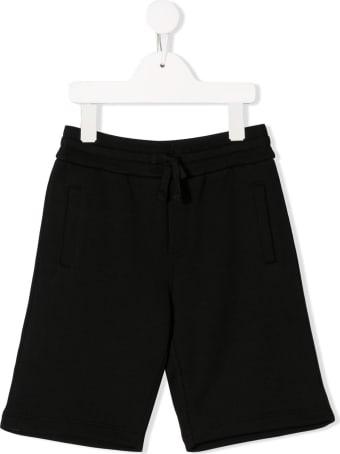 Dolce & Gabbana Black Cotton Bermuda Shorts