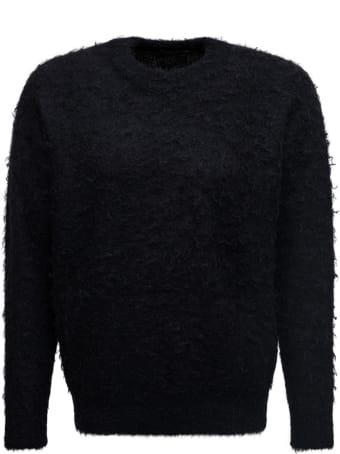 Roberto Collina Black Rasta Knit Crew Neck Sweater