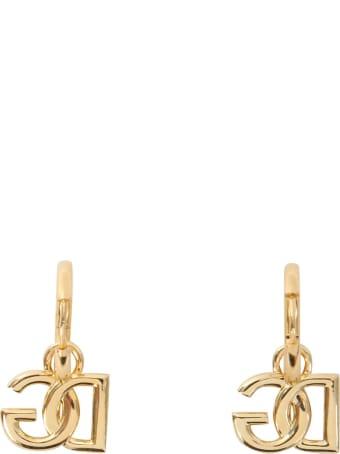 Dolce & Gabbana Circle Earrings With Dg Pendant