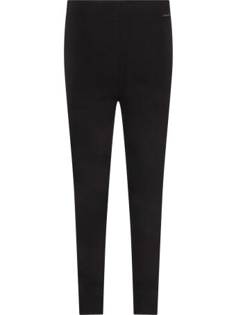 Moncler Black Leggings For Girl With Logo