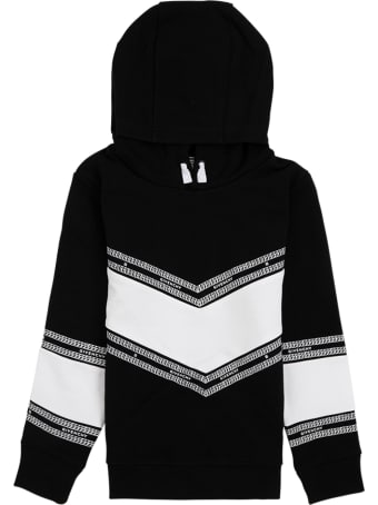Givenchy White And Black Cotton Hoodie With Logo