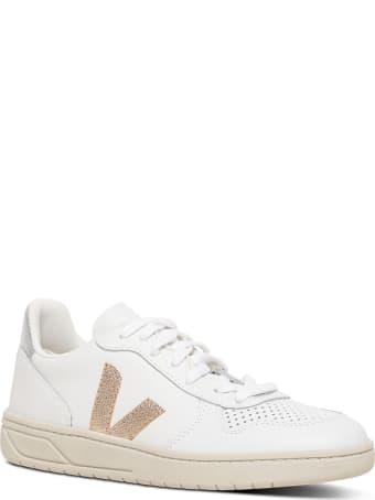 Veja White  Vegan Leathe Sneakers With Side Logo