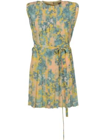 Emilio Pucci Belted Waist Sleeveless Dress