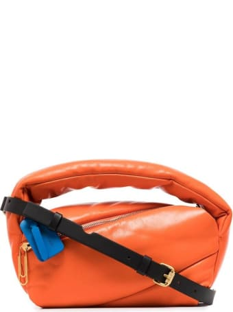 Off-White Pump Pouch In Orange Padded Letaher