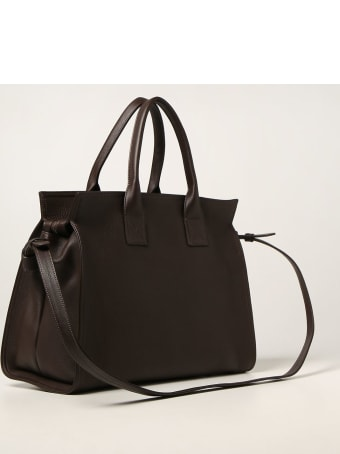 Marsell Tote Bags Marsèll Curva Bag In Hammered Leather And Suede