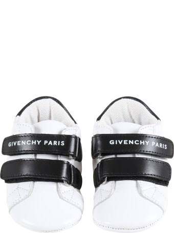 Givenchy White Sneakers For Aby Kids With Logo