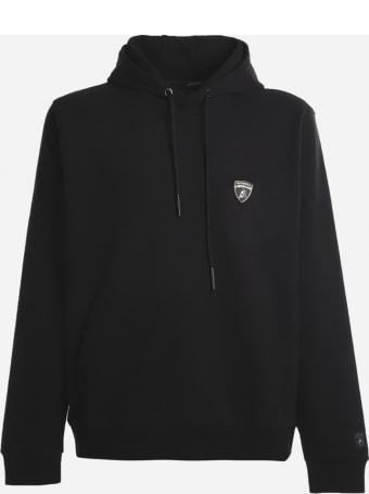 Automobili Lamborghini Cotton Blend Sweatshirt With Logo Patch