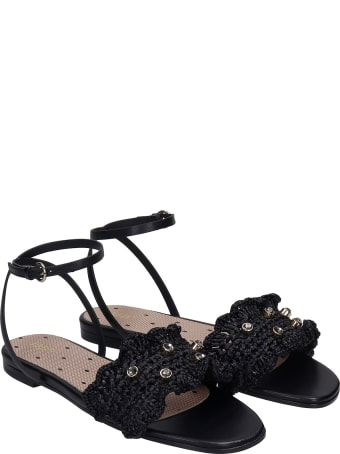 RED Valentino Flats In Black Silver