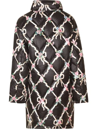 Moschino Floral Print Quilted Coat