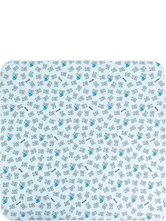 Moschino Pastel Blue Cotton Blanket