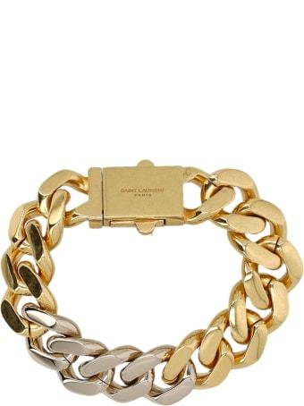 Saint Laurent Two-tone Chain Bracelet