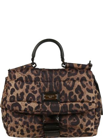 Dolce & Gabbana Buckled Front Logo Plaque Shoulder Bag