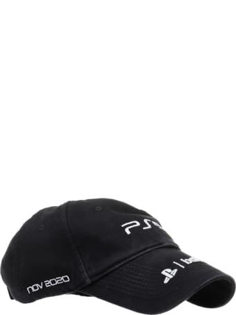 Balenciaga Black Playstation Cap
