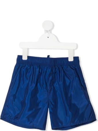 Dsquared2 Blue D2kids Boxer Logo Swim Shorts