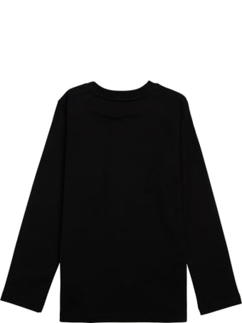 Givenchy Long-sleeved T-shirt In Black Cotton With Logo