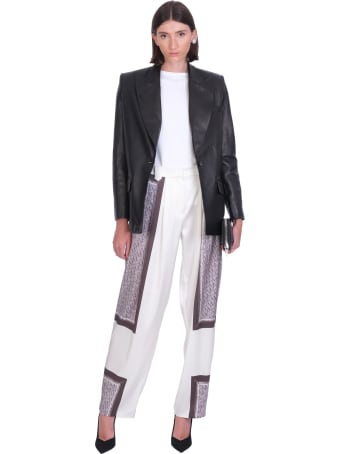 Magda Butrym Leather Jacket In Black Leather