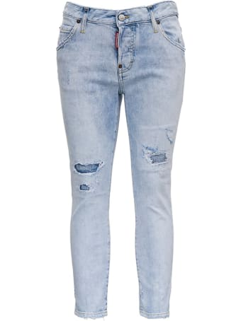Dsquared2 Denim Jeans With Tear Detail