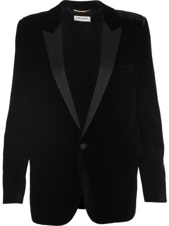 Saint Laurent 1 Btn Tuxed Jacket Velour