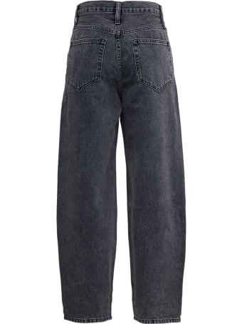Frame Barrel Lage Grey Denim Jeans