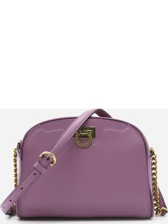 Salvatore Ferragamo Trifolio Shoulder Bag In Leather