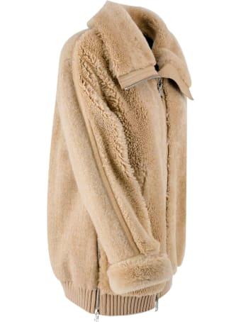 Liven Alpaca-leather Blend Bomber Jacket