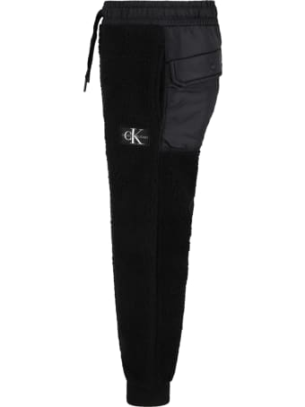 Calvin Klein Black Sweatpants For Kids With White Logo