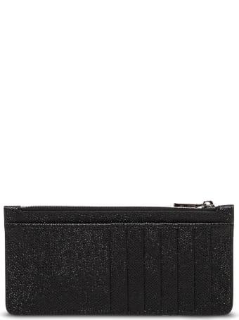 Dolce & Gabbana Black Leather Card Holder With Logo
