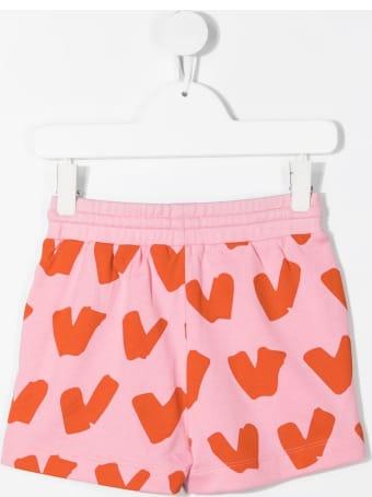 Stella McCartney Hearts Shorts In Pink Jersey