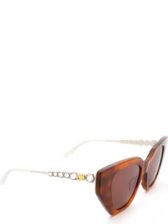 Gucci Gucci Gg0641s Havana Sunglasses