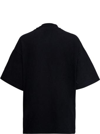 Palm Angels Black Cotton T-shirt With Bear Print