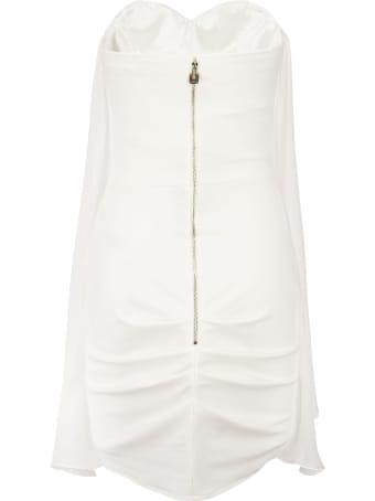 Elisabetta Franchi Dress In Silk Voile Fabric