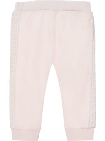 Fendi Pink Stretch Cotton Sweatpants