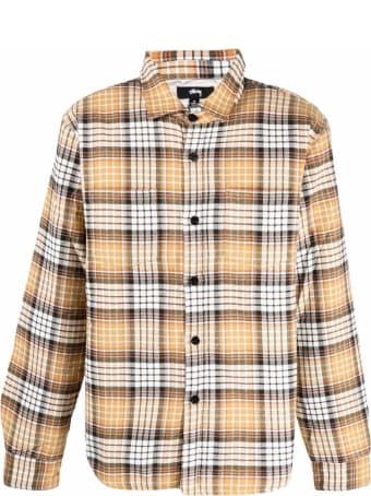 Stussy Plaid-check Print Cotton Shirt