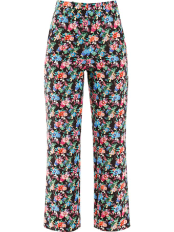 Paco Rabanne Floral Print Trousers