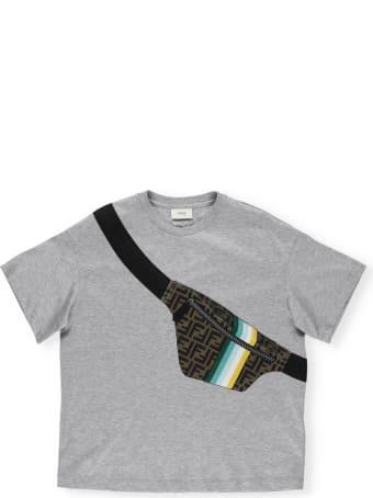 Fendi T-shirt With Beltbag Print