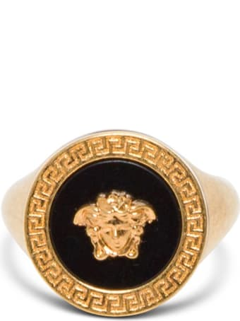 Versace Oversize Medusa Gold And Black Ring