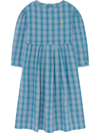 The Animals Observatory Light-blue Dress For Girl With Logo