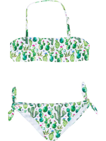 MC2 Saint Barth Prickly Plant Little Girls Bikini