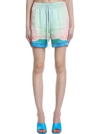 Casablanca Shorts In Green Silk