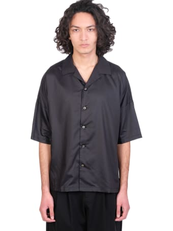Attachment Shirt In Black Synthetic Fibers