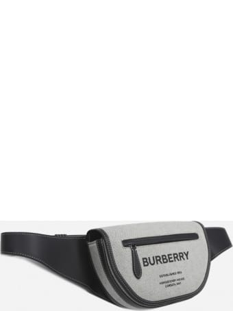 Burberry Olympia Pouch In Cotton With Horseferry Logo Print