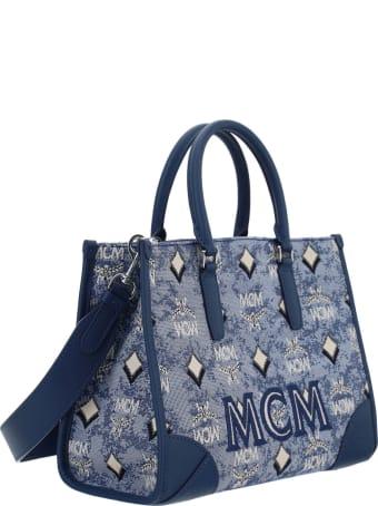 MCM Vintage Jacquard Tote Bag