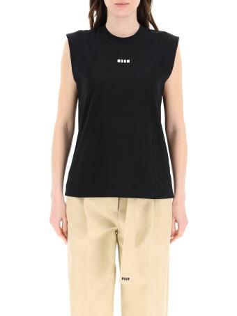 MSGM Sleeveless Jersey Top