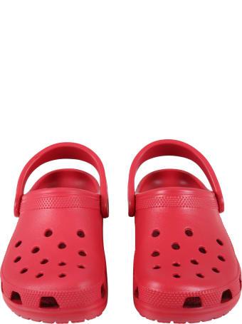 Crocs Sandales Bleues Clair Pour Enfants Avec Nuages