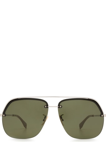 Fendi Fendi Ff M0095/g/s Blue & Silver Sunglasses
