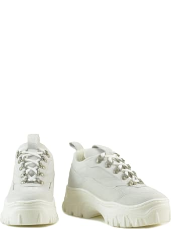 MSGM White Leather Women's Chunky Sneakers