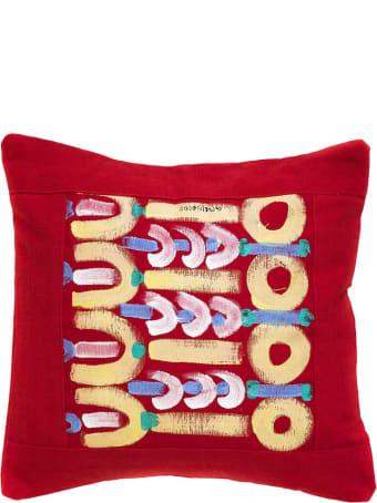 Le Botteghe su Gologone Hand Painted Cushions 100x100 Cm