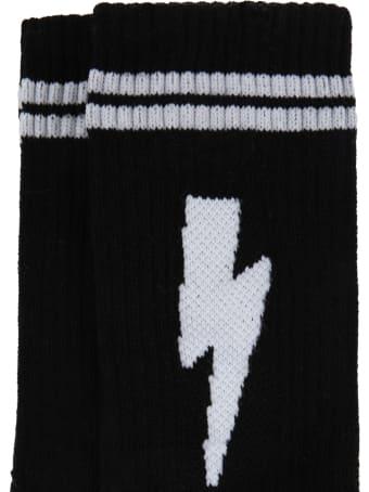 Neil Barrett Black Socks For Kids
