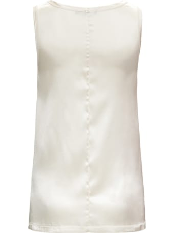 Tessa White Silk Top